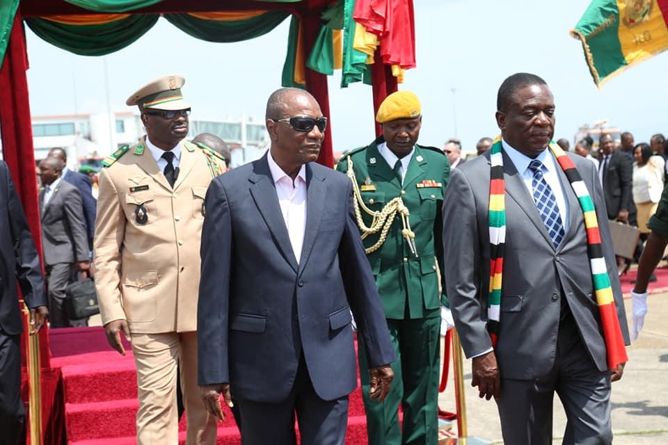 Arrivée du président du Zimbabwé à Conakry
