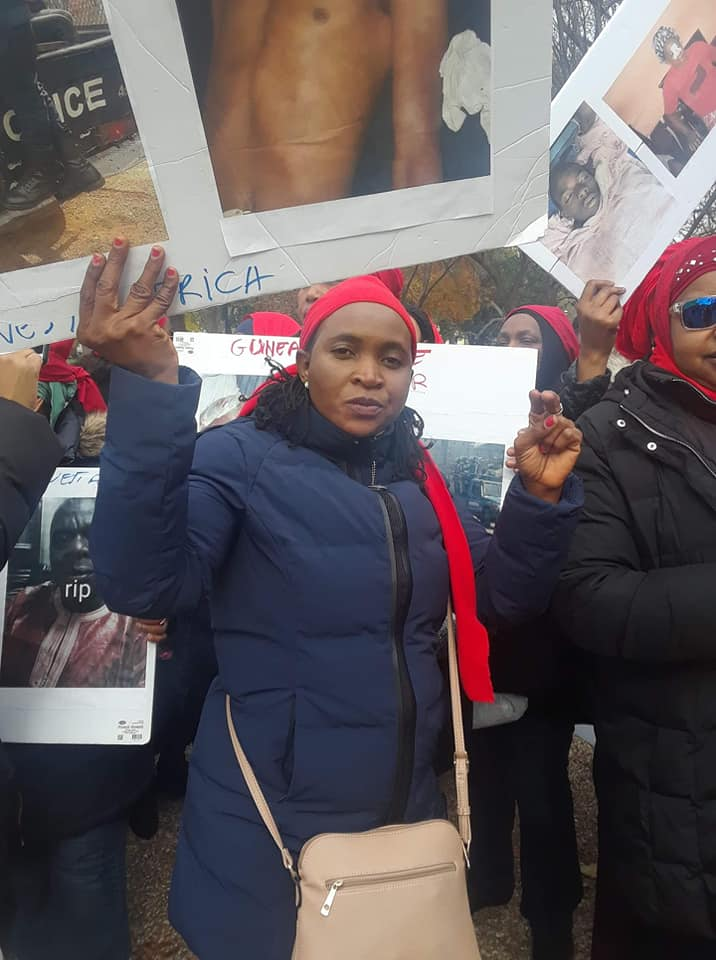 Washington: des Guinéens manifestent contre Alpha Condé à la Maison Blanche