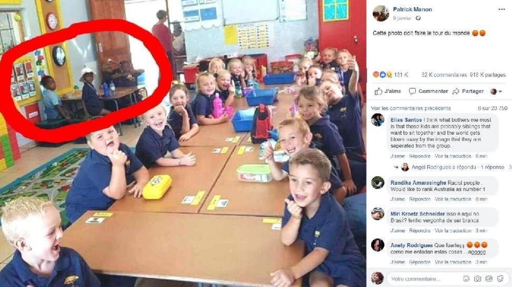 Afrique du Sud: une photo montrant des élèves noirs et blancs séparés fait polémique