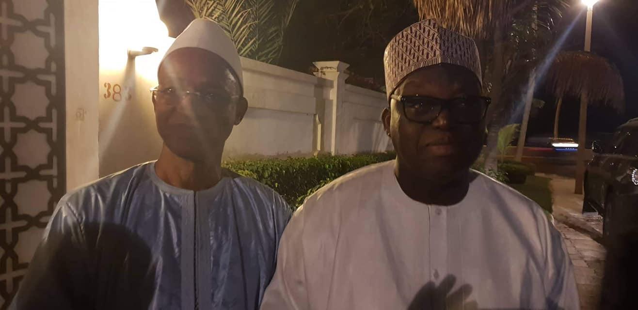 Dakar: Cellou Dalein Diallo chez le président de l'Assemblée nationale du Sénégal, Moustapha Niass, en deuil