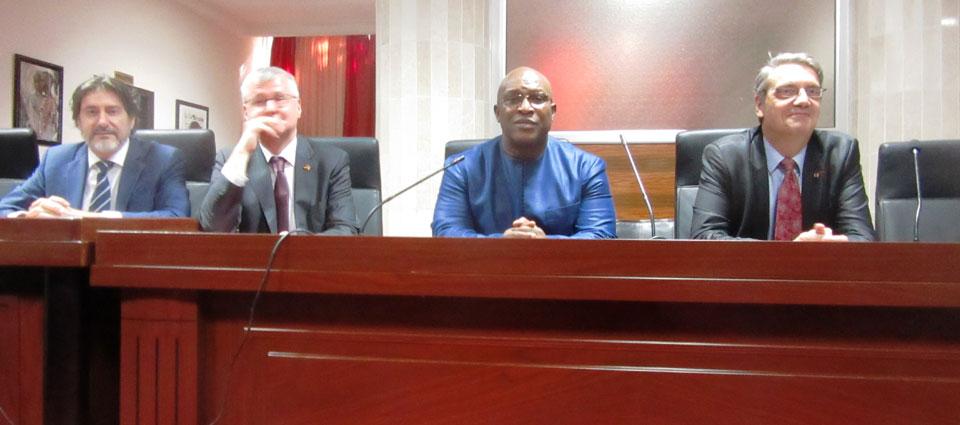 Kiridi Bangoura et des diplomates européens pour parler de la migration irrégulière