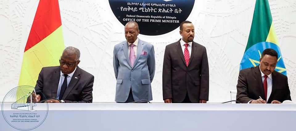 Diplomatie: la Guinée et l'Ethiopie signent plusieurs accords