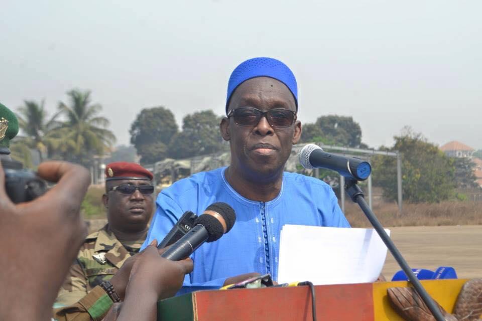 Le vibrant hommage du ministre de la défense aux militaires Guinéens tués au Mali ( discours )