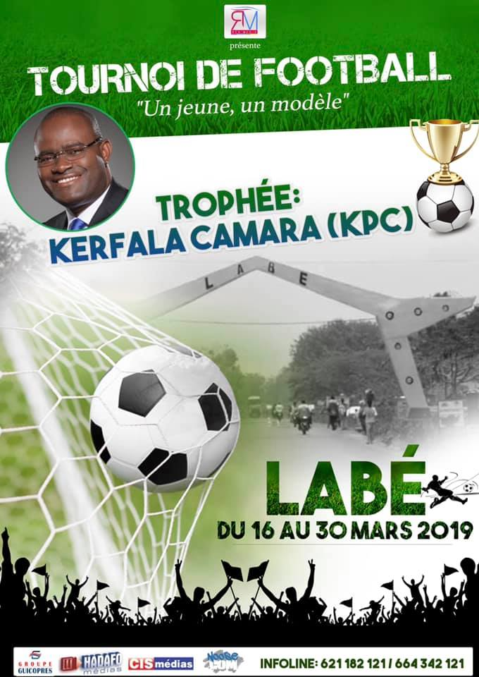 Labé /Le tournoi de football au trophée KPC démarre le samedi 16 mars 2019