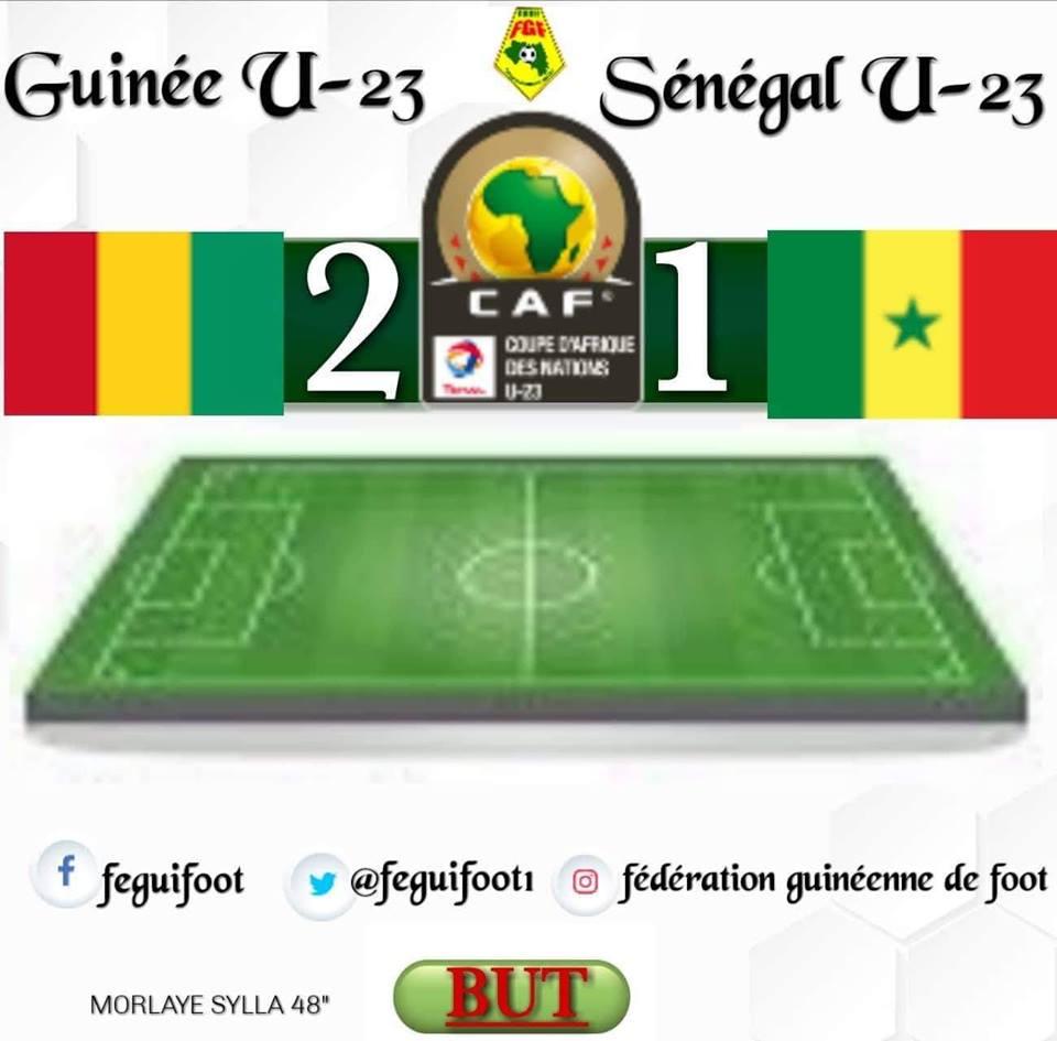 Elim CAN U 23: la Guinée domine le Sénégal ( 2 - 1 )