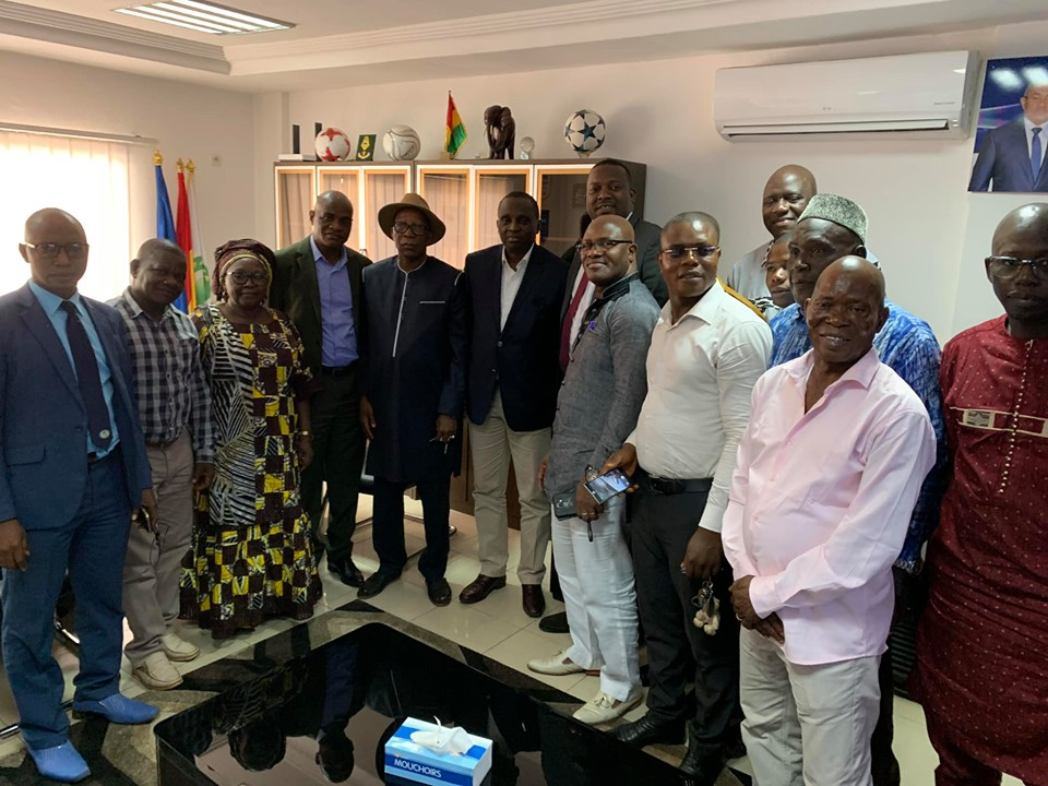 Le président Antonio Souaré reçoit les sages de la communauté Tomas