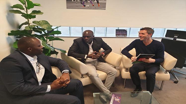 Le président du Horoya AC, Soufiane Souaré, à Toulouse, en France