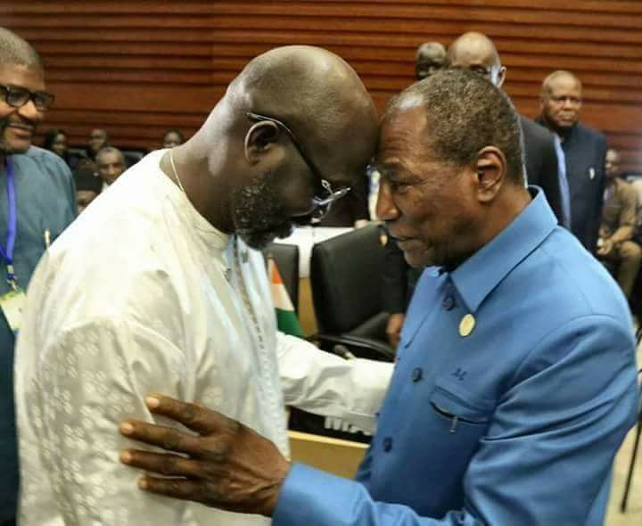 Le président du Libéria attendu à Conakry ( officiel )