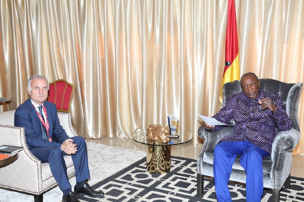 Le président de Canal+ à Sékhoutouréyah