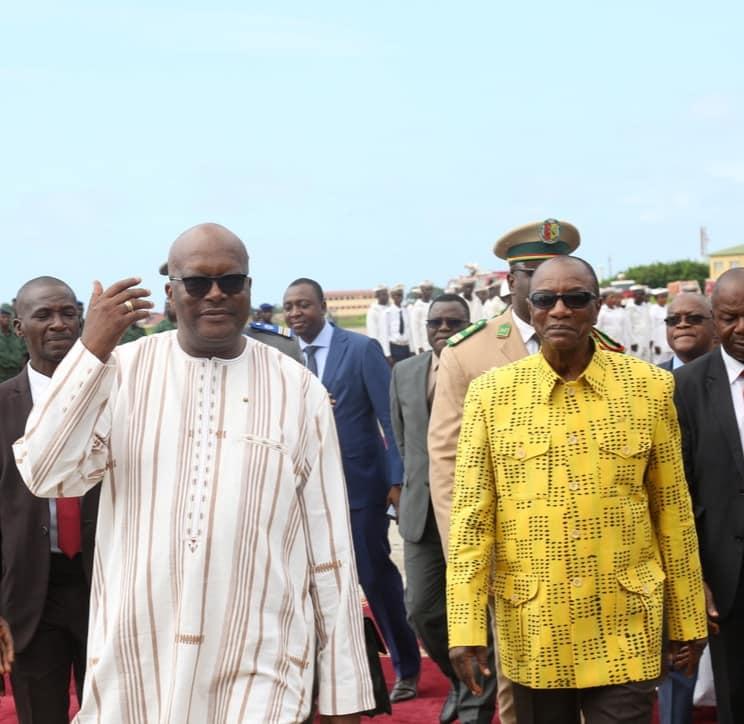 Arrivée à Conakry du président du Burkina Faso