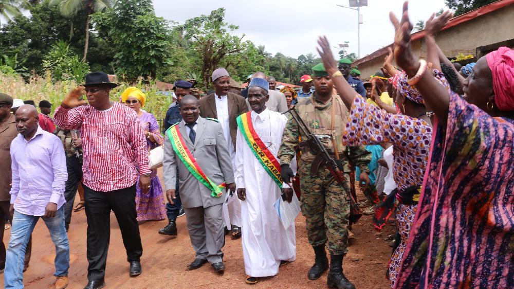Le ministre Kiridi Bangoura lance les travaux de l'Anafic  à Maférinya, Kaback et Kakossa