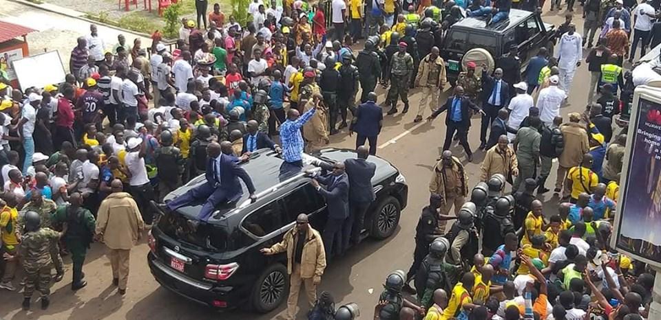 Retour de Alpha Condé à Conakry