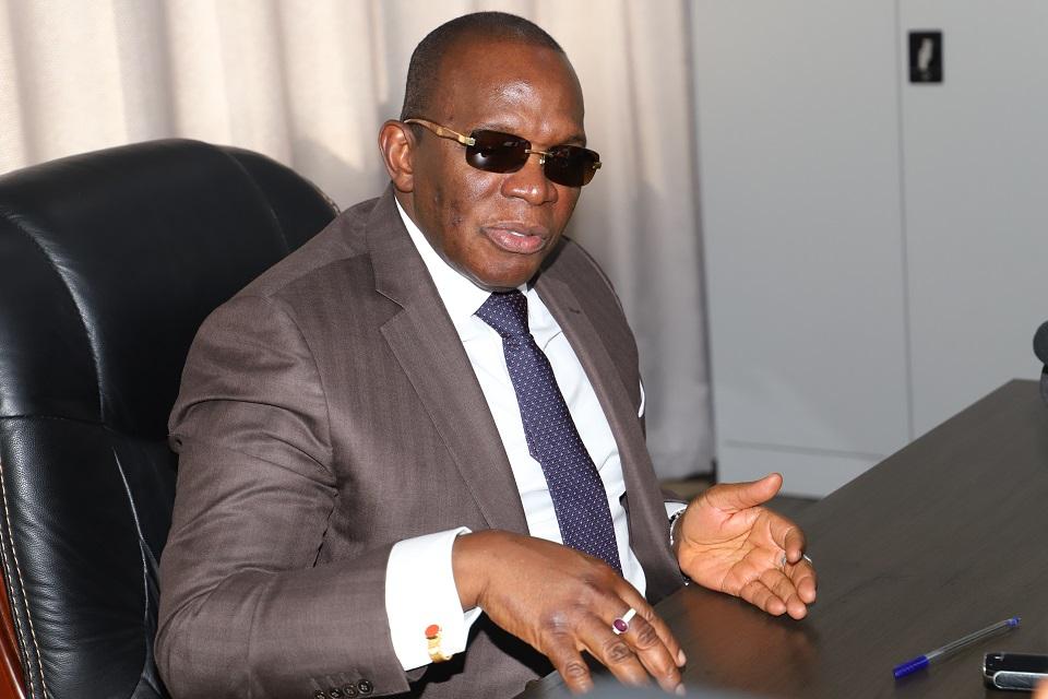 Les membres du COCAN chez le premier ministre Kassory Fofana