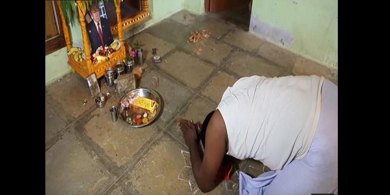 En Inde, Donald Trump, c'est son Dieu