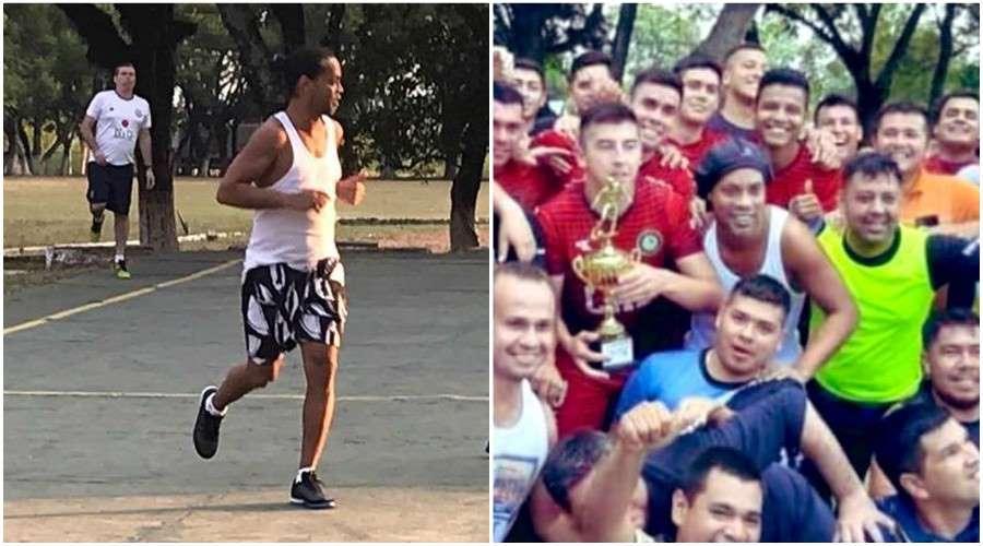 Ronaldinho remporte le tournoi de foot de sa prison !