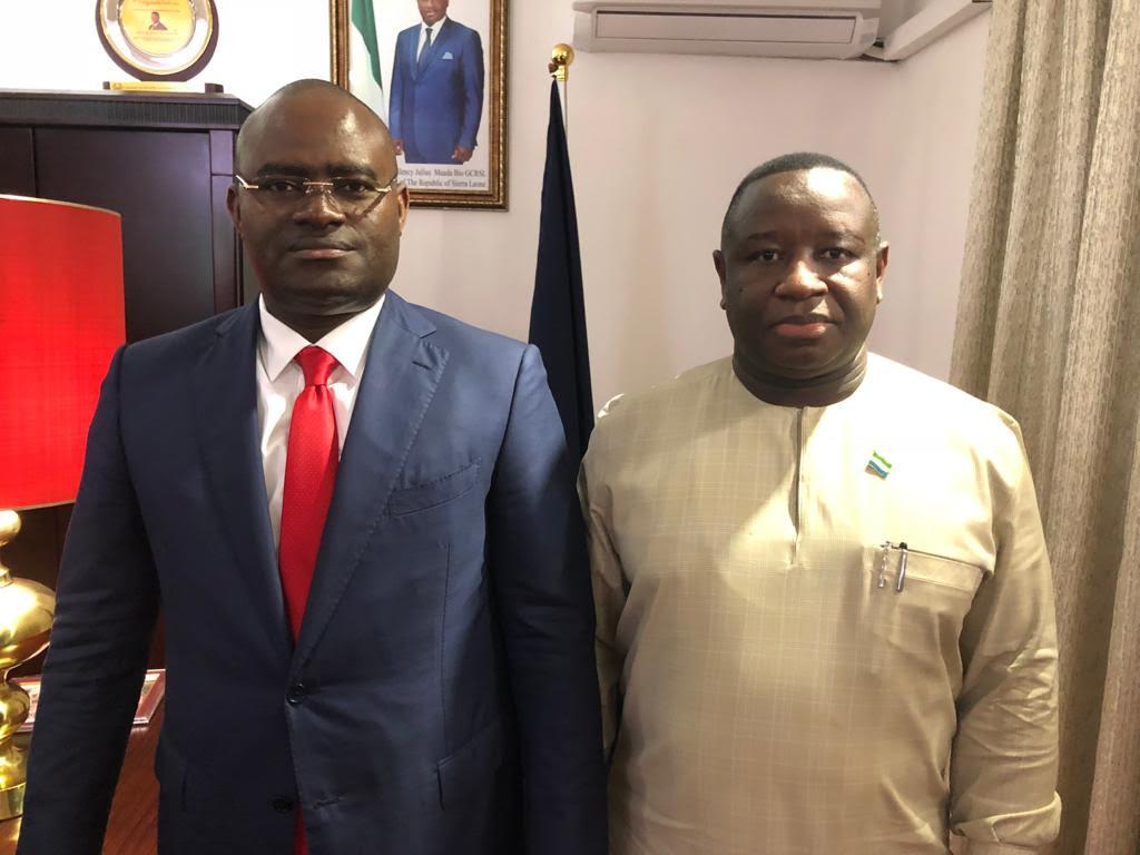 Satisfait de la prestation  de Guicopres en Sierra-Léone, le président Maadabio reçoit en grande pompe KPC à la State House