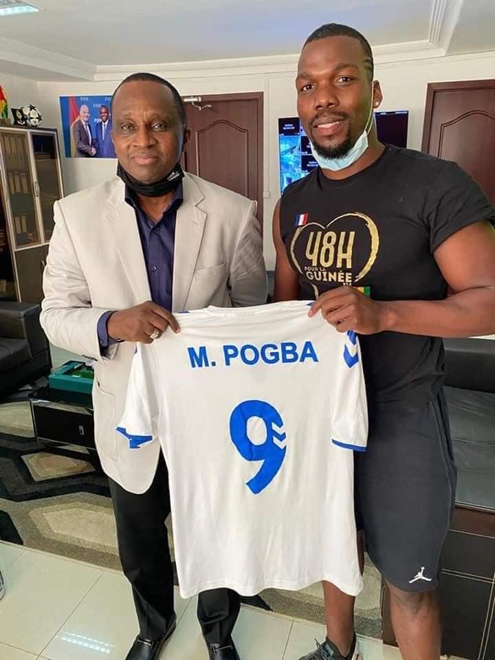 Football: quand les Pogba expriment leur reconnaissance au président Antonio Souaré ( Photos )