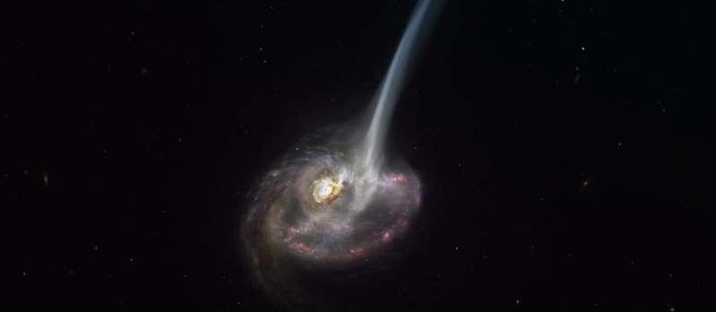 Une galaxie lointaine en train de « mourir » observée pour la première fois