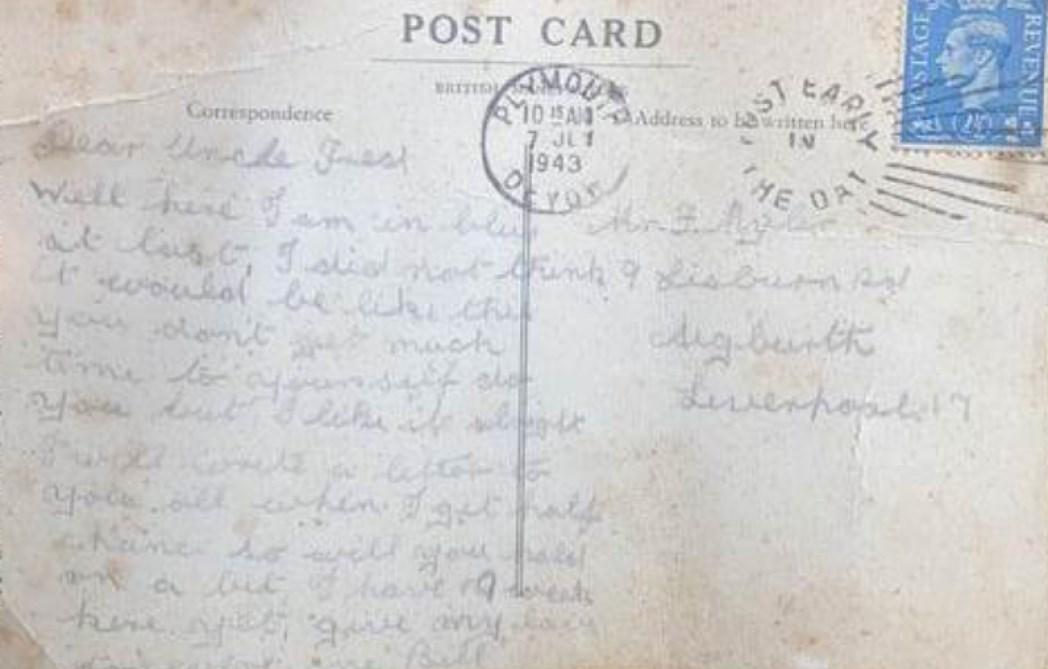 Une lettre d'un combattant de la Seconde Guerre mondiale arrive à destination… après 77 ans