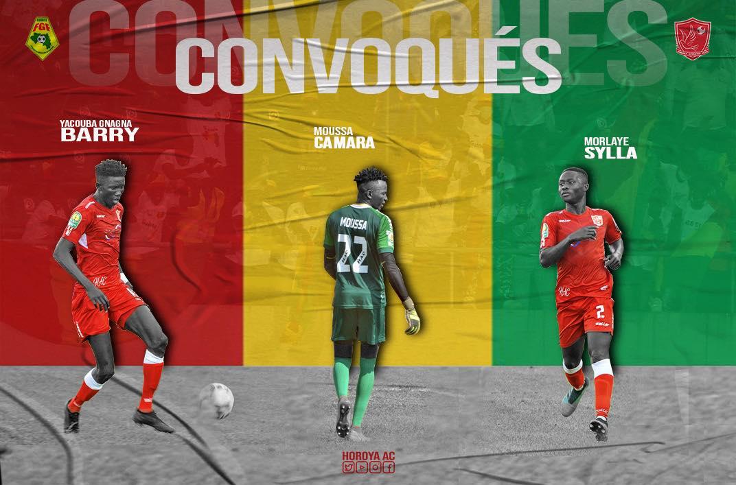 Eliminatoires CAN 2021: trois joueurs du Horoya AC dans les rangs du Syli Natiobal