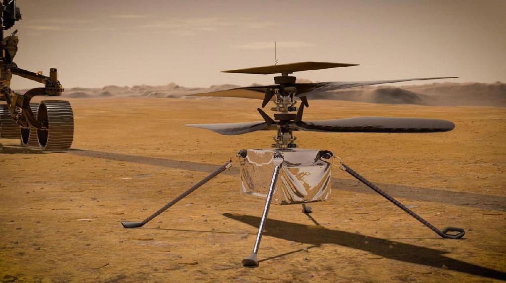 Un hélicoptère ultra-léger s'est posé sur le sol de Mars