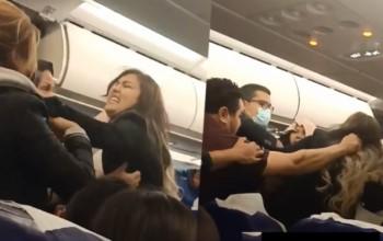 Une bagarre entre les passagers d'un avion cause cinq heures de retard ( vidéo )