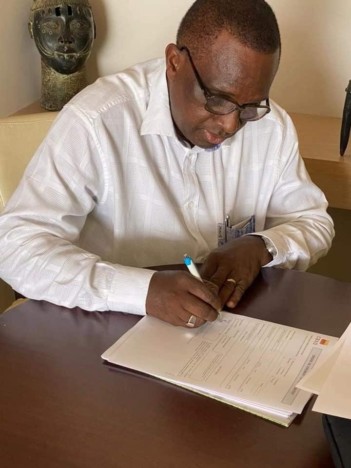 Le président Antonio Souaré à Dakar pour la mise en place de l'administration de la Zone A de l' UFOA
