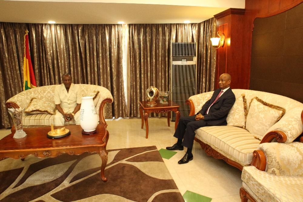 le président Alpha Condé reçoit le chef de file de l'opposition pendant 55 minutes