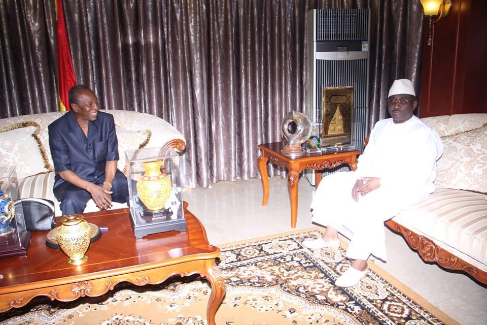 Le Président Alpha Condé reçoit Sidya Touré, leader de l'UFR
