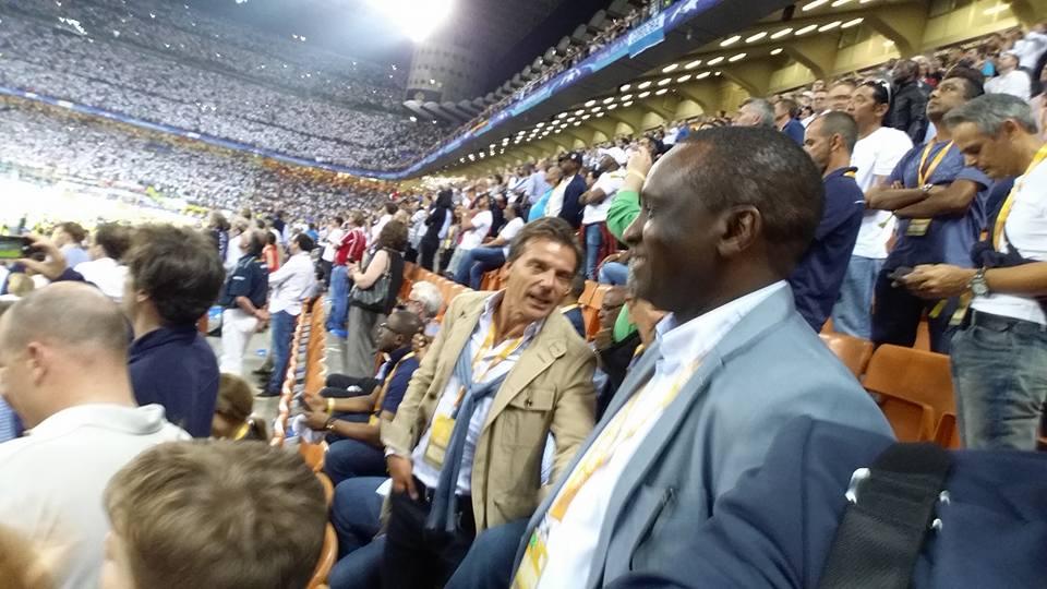 Finale de la Champions League: Antonio Souaré honoré à Milan