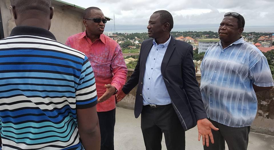 Antonio Souaré à Nongo pour voir comment rendre opérationnel le stade