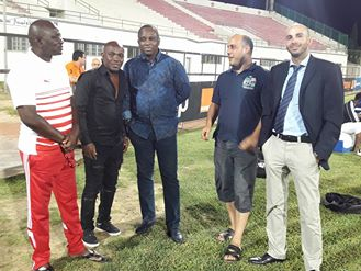 Antonio  Souaré, commissaire de la demi-finale de la Coupe de la CAF ESS - TP MAZEMBE