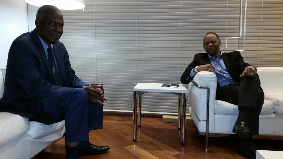 Quand le PM Youla rencontre l'ambassadeur de Guinée en France, Amara Camara