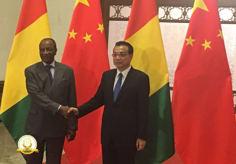 Coopération bilatérale au menu des discussions entre le Président Alpha Condé le Premier Ministre chinois Li Keqiang