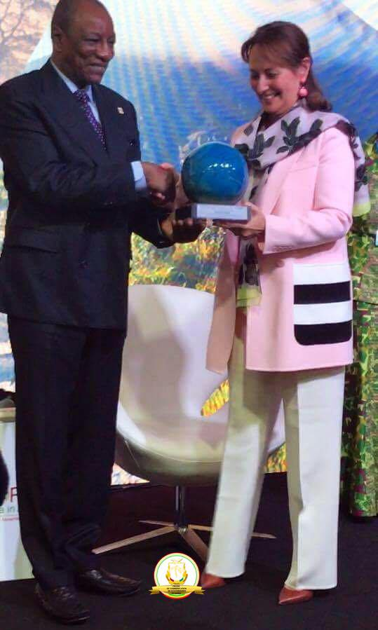 Le Président Alpha Condé récompensé à la COP22 pour son leadership dans l'électrification du continent