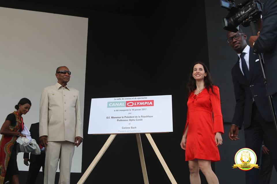 Le président Condé inaugure le premier canal Olympia de l'Afrique à Kaloum