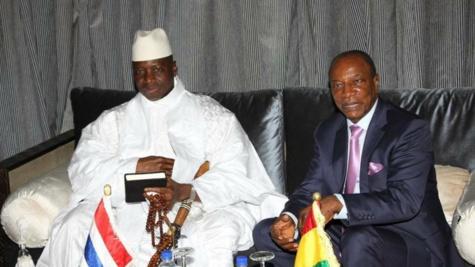 Alpha Condé, seul soutien de Yaya Jammeh?