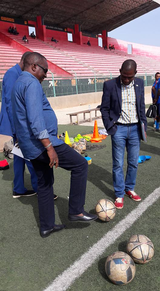 US Gorée vs Horoya AC en Ligue des Champions: Antonio Souaré à la séance d'entraînement des poulains de Zvunka