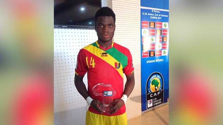 CAN U20 Zambie 2017: un joueur du Horoya AC, homme du match du Syli Junior face à l'Egypte