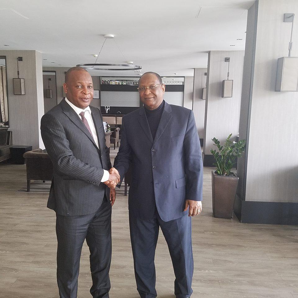 Le général Konaté rencontre Lansana Kouyaté à Paris
