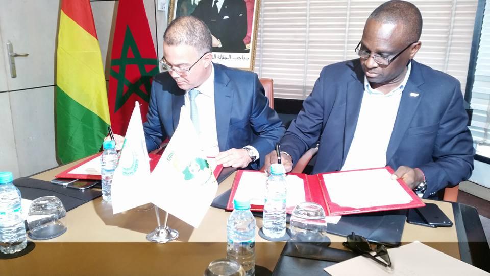 Coopération Sportive Guinée-Maroc :  Fouzi LEKJAA et Antonio Souaré signent la Convention de Partenariat