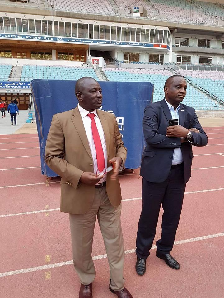 Ligue Africaine des Champions: Antonio Souaré au stade de Rades avant le match Horoya AC vs Espérance Sportive Tunis