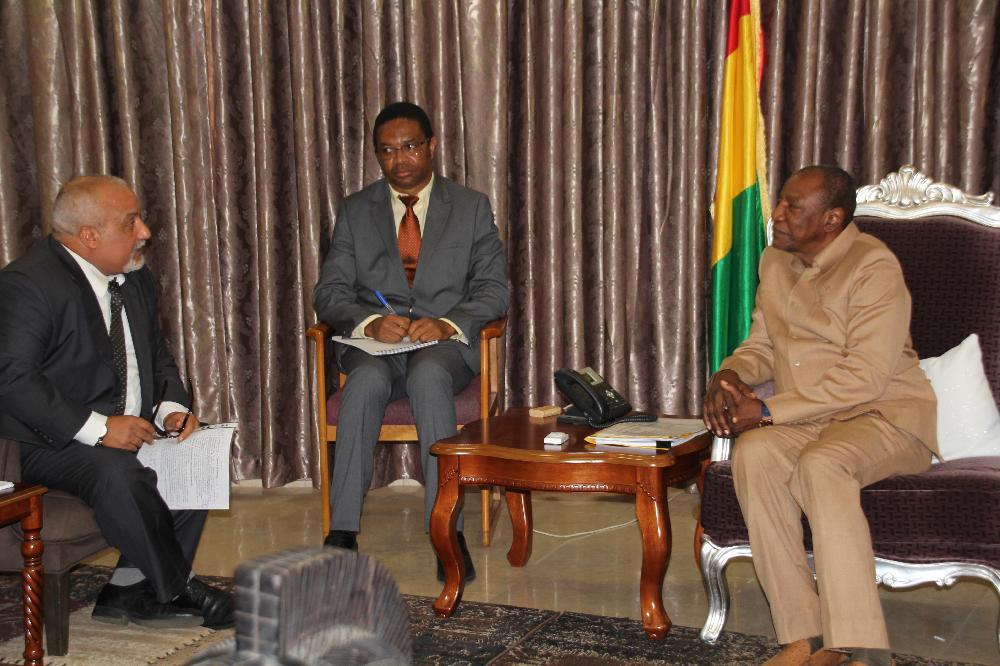 Le Président Condé reçoit l'administrateur de la BAD