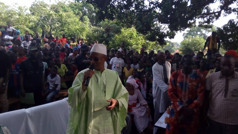 Cellou Dalein Diallo à Mandiana : la paix, la réconciliation et l'Etat de Droit au centre des messages