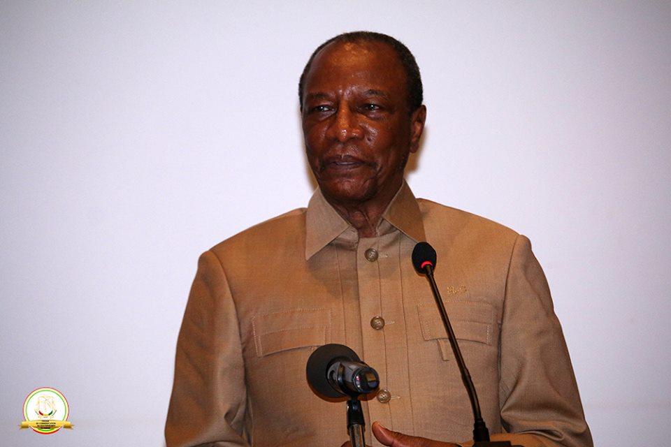 Le président Condé lance les travaux de la cinquième édition du Symposium Minier