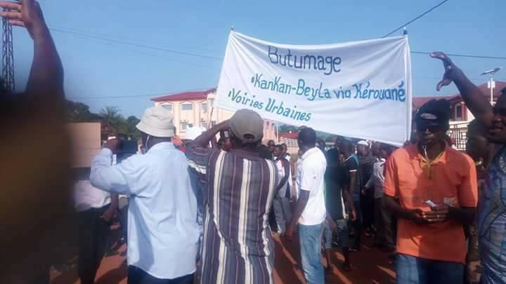 Colère des jeunes de Kérouané contre l'administration Condé