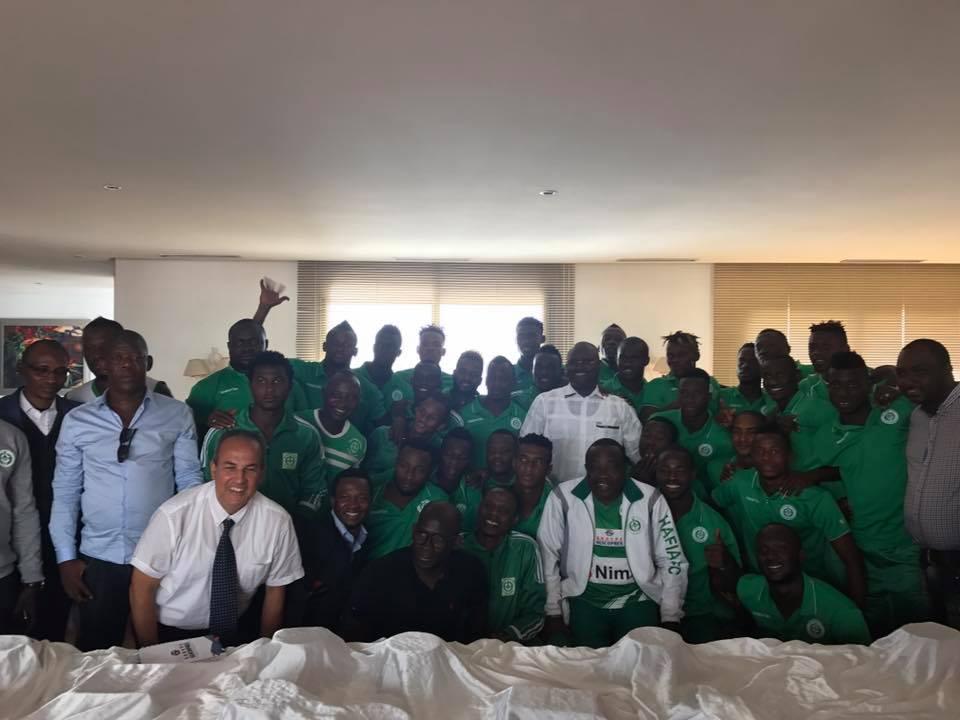 KPC au Maroc pour encourager le légendaire Hafia FC