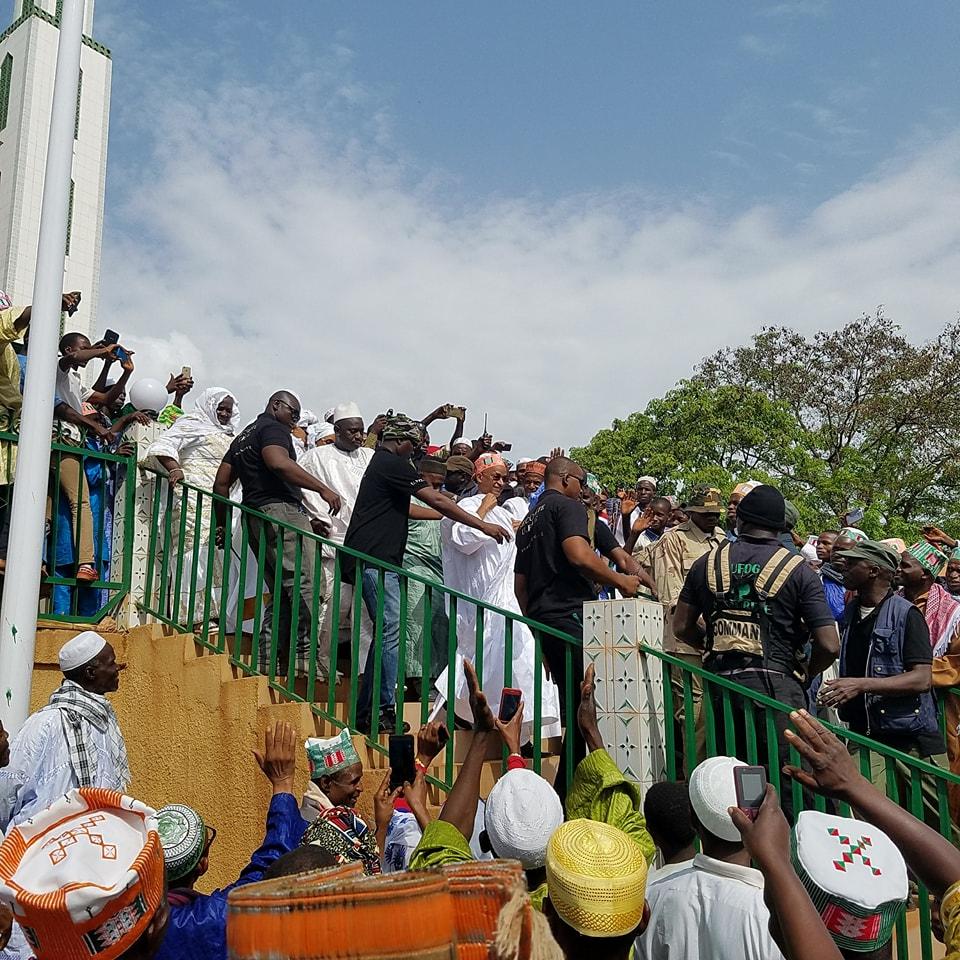 Quand Cellou Dalein éclipse la délégation gouvernementale à l'inauguration de la mosquée de Yimbering
