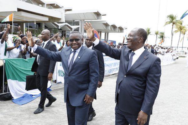Le président de Sierra-Léone à l'école de Alhassane Ouattara
