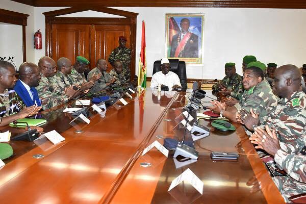 La hiérarchie militaire félicite Mohamed Diané